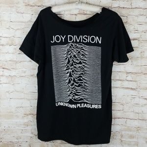 Tops - concert tee Joy Division tee OS womens